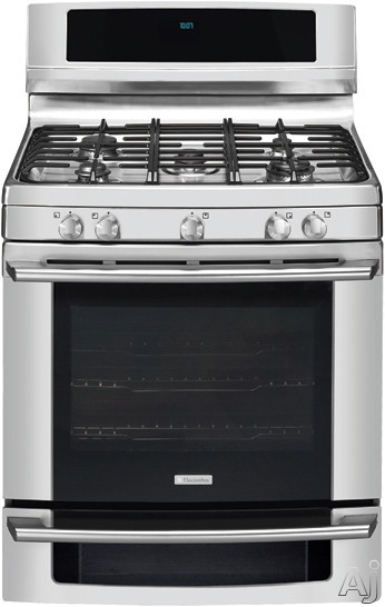 "Please give a warm welcome to the Electrolux 30"" Free-Standing Gas Wave-Touch™ Range"