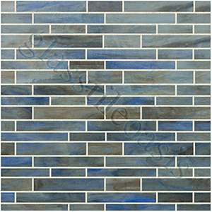 Here's a wild card. The blues and the grays are nice and the 'bricks and sticks' tile pattern is interesting.