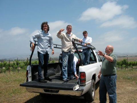 A truck safari into the Bouchaine vineyards!
