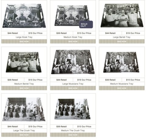 Fun Melamine trays featuring classic Italian photos from the 1950's - sold for $15.00!