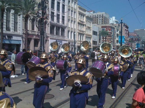 The World Famous St. Augustine Marching Band - This crew marches hundreds of miles each Mardi Gras season. They are the best!