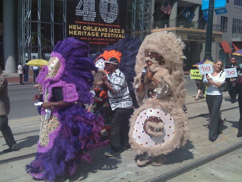Mardi Gras Indians!