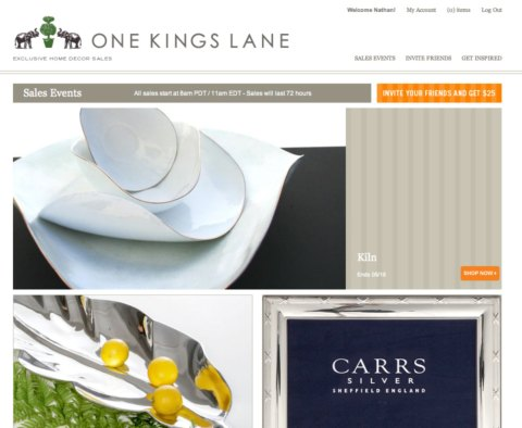 One Kings Lane Web site: Exclusive Home Decor Sales
