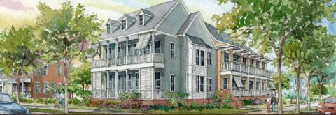 Rendering of Columbia Parc, New Orleans