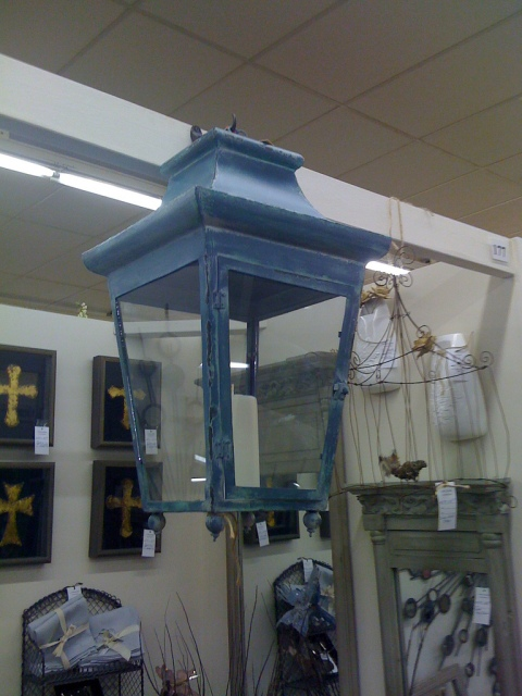 A lovely pair of colorful lanterns - it's a shame they weren't wired for the new electric light.