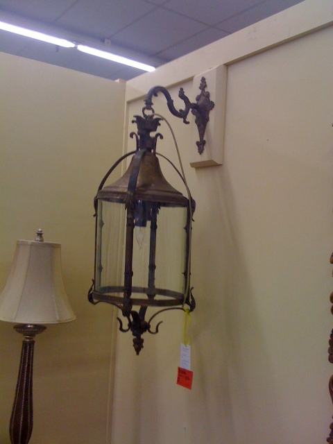 This pair of (Italian!) lanterns was electrified and I would've slapped them up all over the front of my house if I weren't going to (Italy!) next month. $$$.