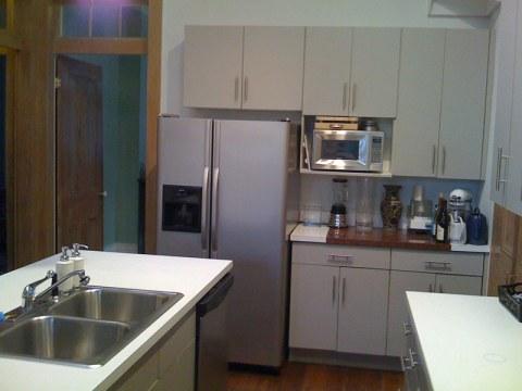 """""""new' stainless fridge"""